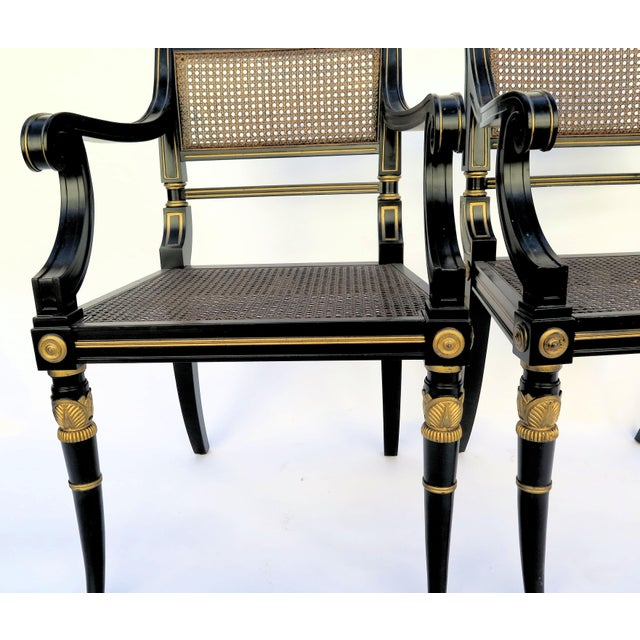 Baker Mahogany Caned Chairs - a Pair - Image 4 of 7