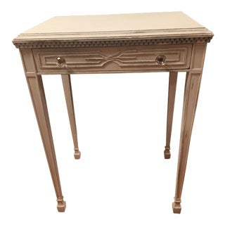 White Distressed Entry Table or Side Table