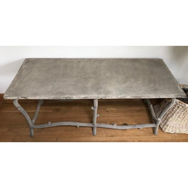 Image of Faux Bois Concrete Table