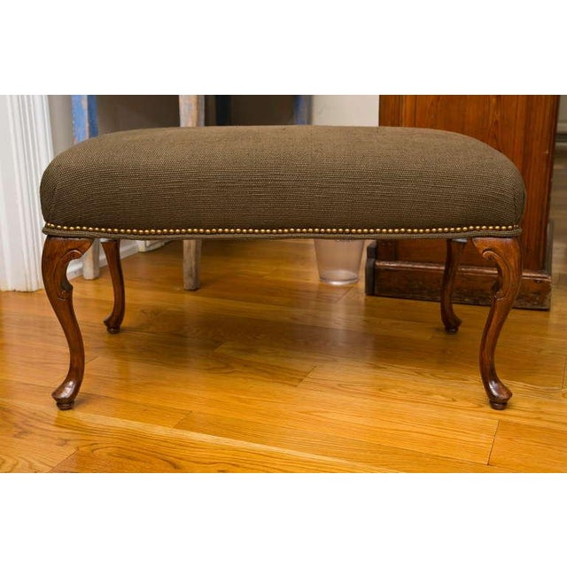 Antique French-Style Walnut Bench - Image 2 of 7