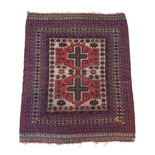 Antique Persian Sumac Rug - 4′ × 6′