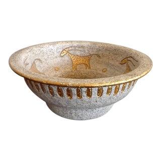 Bitossi Mid-Century Cave Painting Bowl
