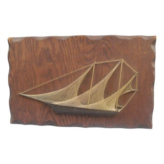 Vintage Sailboat String Wall Art