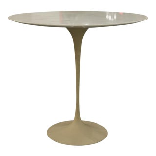 Vintage Eero Saarinen Oval Pedestal Side Table