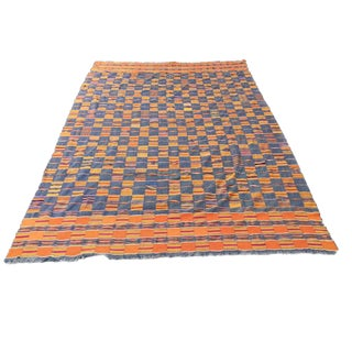 Vintage African Textile Kente Cloth Cotton Fabric / Blanket