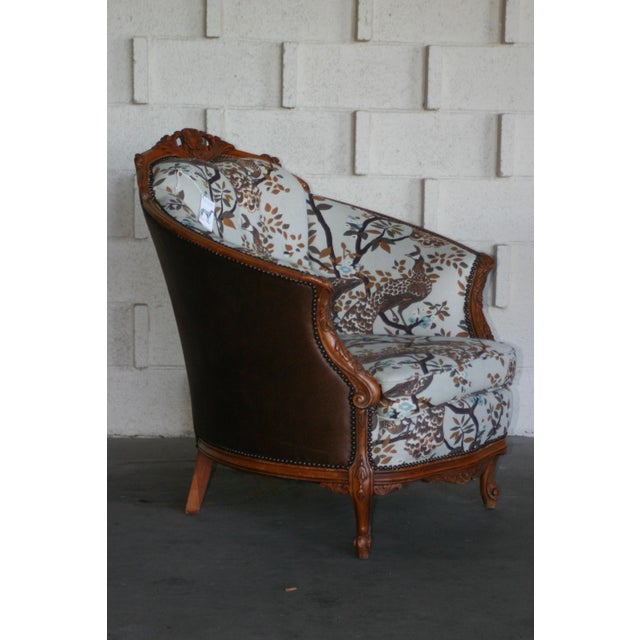 Antique Carved Barrel Chair - Image 6 of 7
