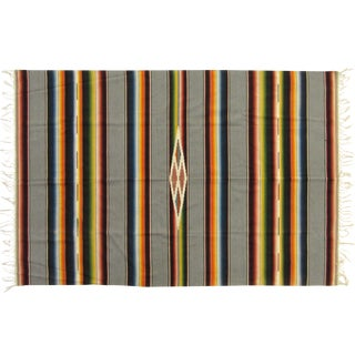 Saltillo Serape with Grey Bands