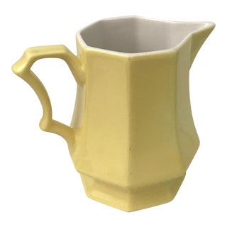 Yellow Ironstone Creamer Pitcher by Independence Japan