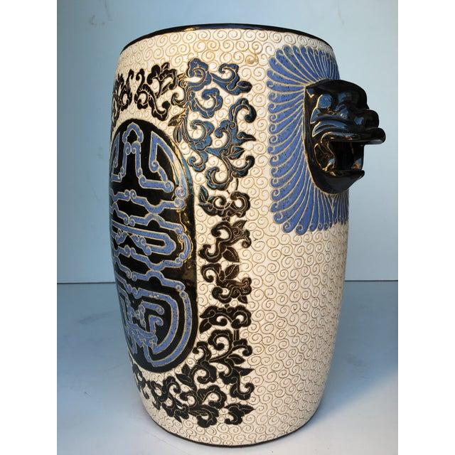 Chinese Porcelain Lion Head Motif Garden Stool - Image 3 of 11