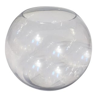 Clear Glass Fish Bowl Shape Vase