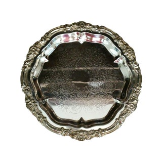Vintage Ornate Silver Plated Platter or Tray