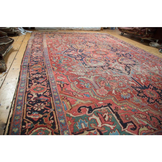 "Distressed Ahar Heriz Carpet - 8'2"" X 11'9"" - Image 6 of 10"