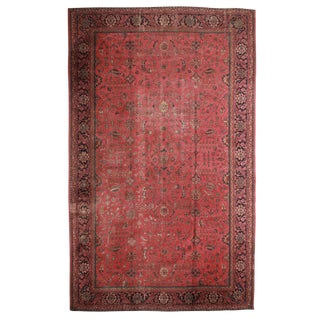 Antique Hand Knotted Wool Turkish Sparta Rug - 11′10″ × 14′8″