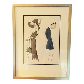 George Goursat French Caricatures -Set of 4
