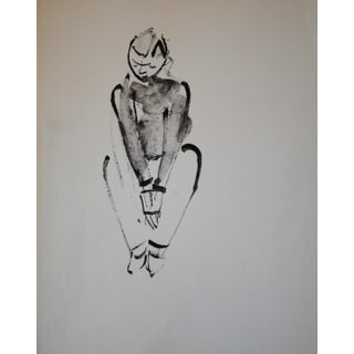 Mid-Century Figurative Drawing by John Begg