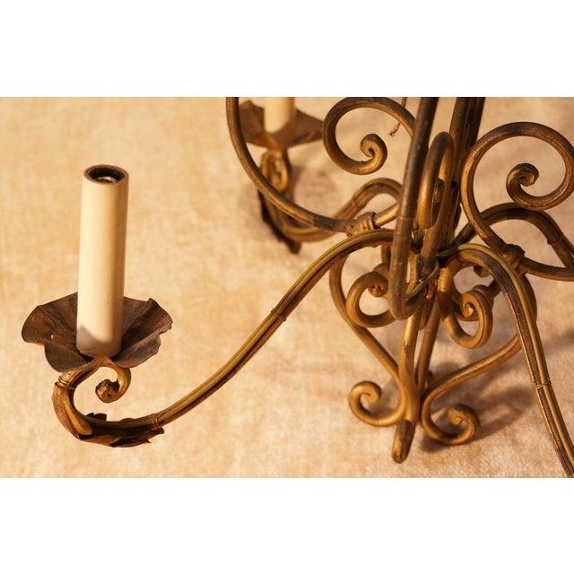 Abc Carpet & Home Bronze Chandelier - Image 3 of 4