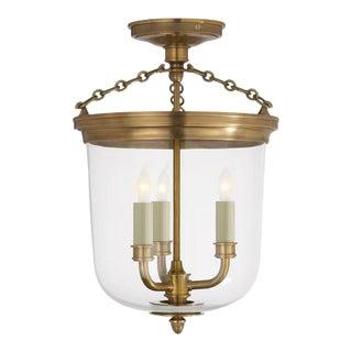 Antique Brass Thomas OBrien Merchant 3-Light Ceiling Light