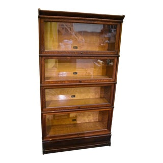 Antique Tiger Oak Barrister Lawyer's Bookcase