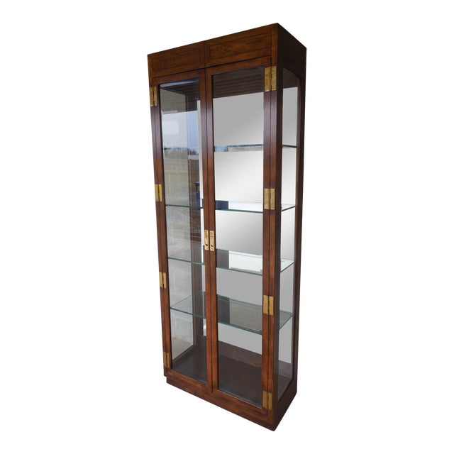 Henredon Campaign Style Curio Cabinet - Image 1 of 11