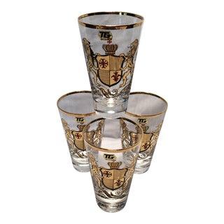 4 Vintage TG 22Kt Lions & Shield Highball Glasses