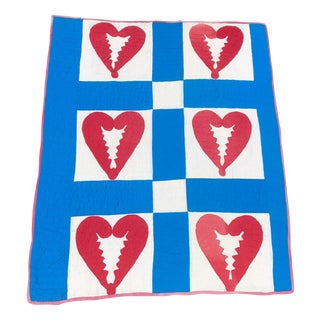 Antique Broken Heart Quilt