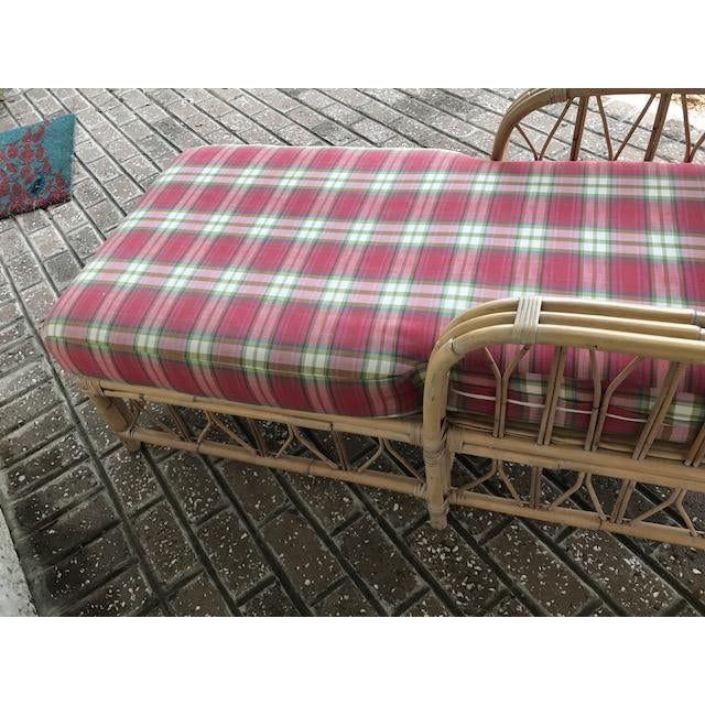 Vintage Wicker & Rattan Chaise - Image 4 of 7