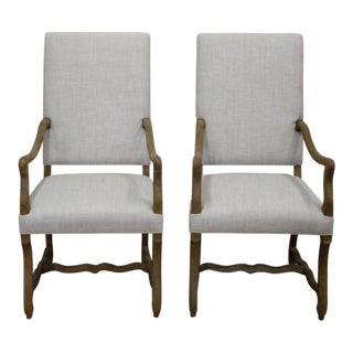 Restoration Hardware Belgian Linen Side Chairs - A Pair