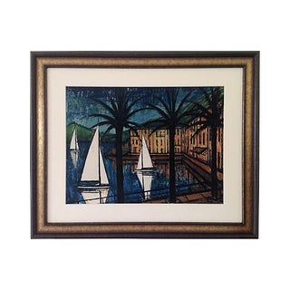 French Sailboats Engraving by Bernard Buffet