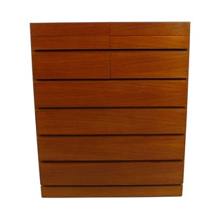 Danish Modern 8-Drawer Teak Dresser