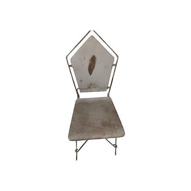 French Art Deco Iron Garden Chairs - Set of 6 - Image 6 of 6