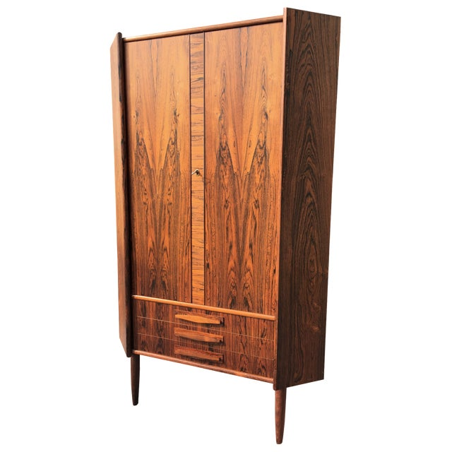 Danish Modern Rosewood Corner Cabinet - Image 1 of 6