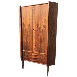 Danish Modern Rosewood Corner Cabinet