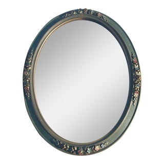 1920's Antique Oval Wall Mirror