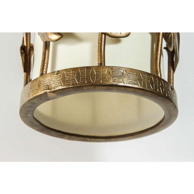 Brass Lotus Pendant - Image 5 of 10