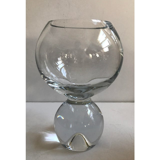 Contemporary Glass Ball Footed Vase - Image 2 of 8