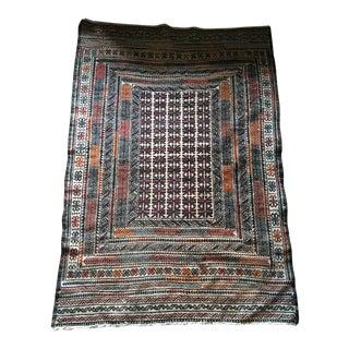 Vintage Turkish Kilim Rug - 3′11″ × 6′2″