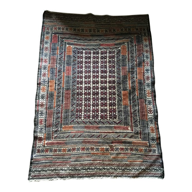 Vintage Turkish Kilim Rug - 3′11″ × 6′2″ - Image 1 of 8