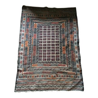Vintage Turkish Kilim Rug - 3′11″ × 6′2″
