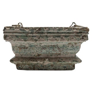 Antique Distressed Turquoise Painted Corbel