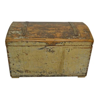 Painted Pine Dome-Top Trunk