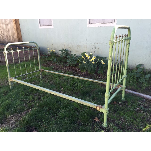 Antique French Metal Bed - Image 2 of 6