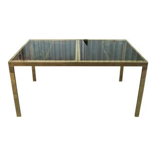 Vintage Brass Dining Table Attributed to Milo Baughman