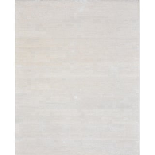 Transitiona Bamboo Silk and Wool Area Rug- 5' X 8'
