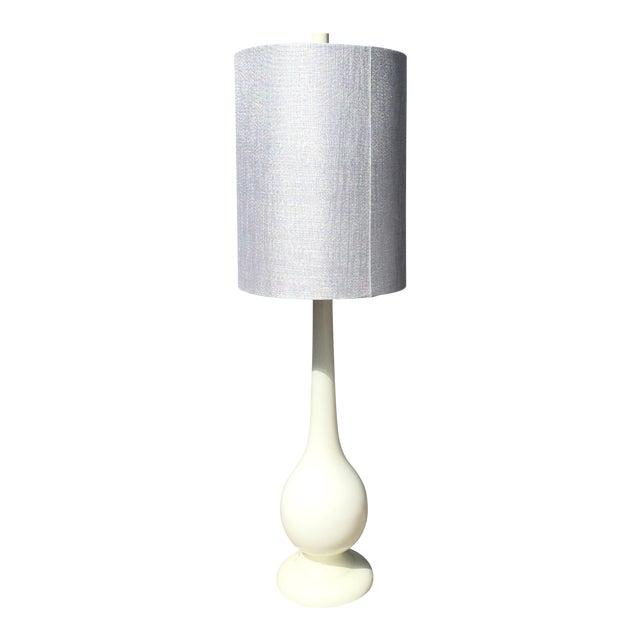 Mid-Century Modern Milk Glass Lamp - Image 1 of 5