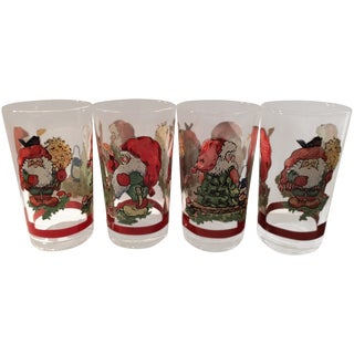 Vintage Christmas Tumblers - Set of 4