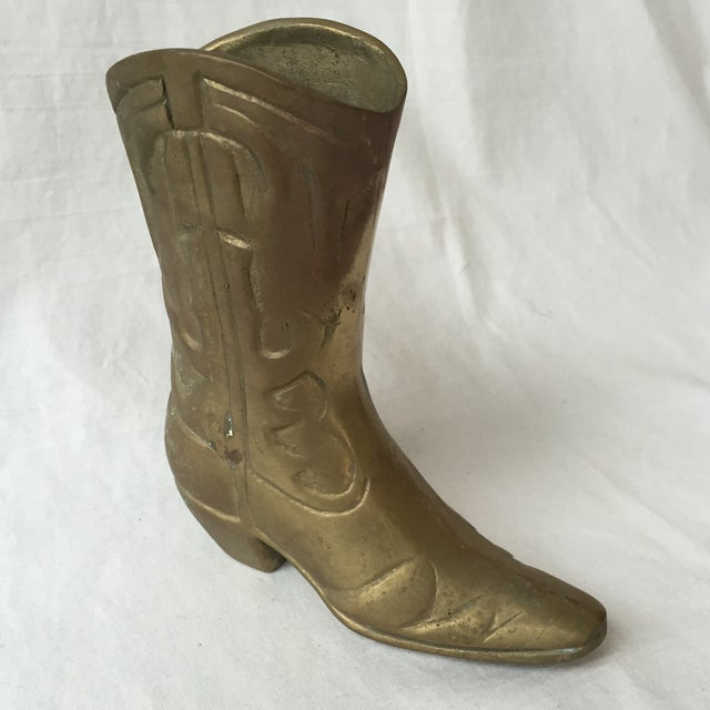 Vintage Brass Cowboy Boot - Image 5 of 5