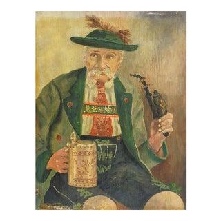 Beer Drinking German Grandpa Portrait