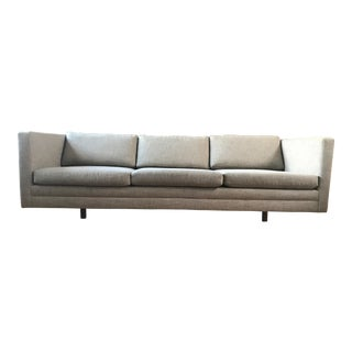 Harvey Probber Light Grey Tuxedo Sofa
