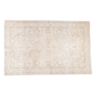 "Distressed Oushak Carpet - 6'3"" X 10'"