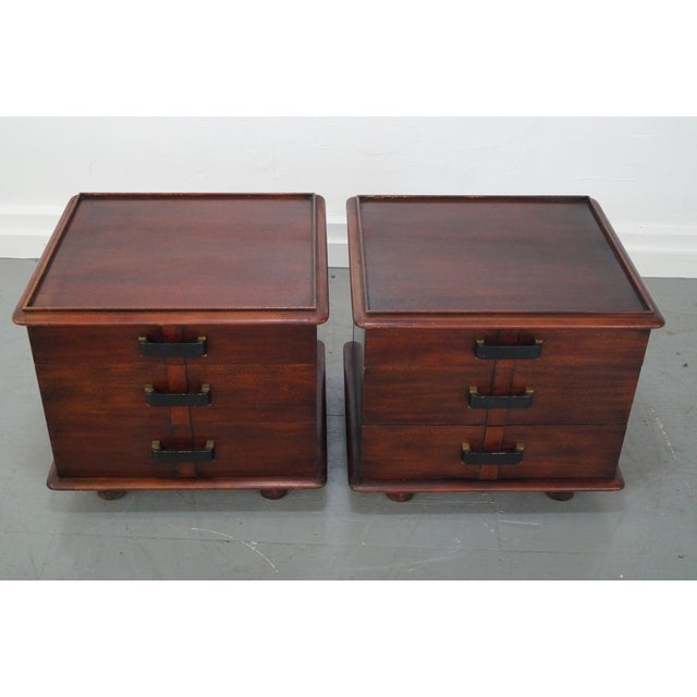 Paul Frankl Johnson Furniture Mahogany Station Wagon Nightstands- A Pair - Image 8 of 10